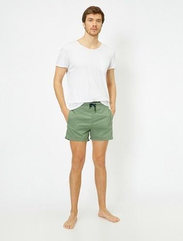 Koton Cep Detaylı Mayo Yeşil